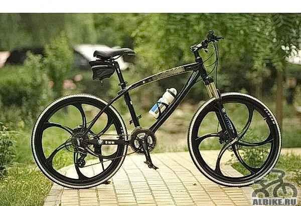 Велосипед БМВ x4 диски литые, цветчерный