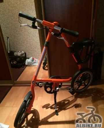 Складной английский велосипед Strida LT (оранжевый