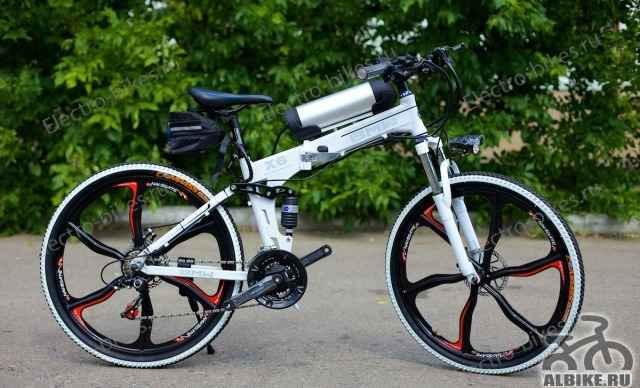 Брендовый велосипед с электродвигателем БМВ X6