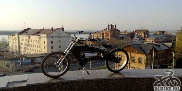 Электровелосипед кастом