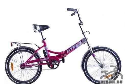 Велосипед Стелс Пилот 410 складной розовый
