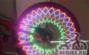 Светодиодная LED подсветка для колес велосипеда