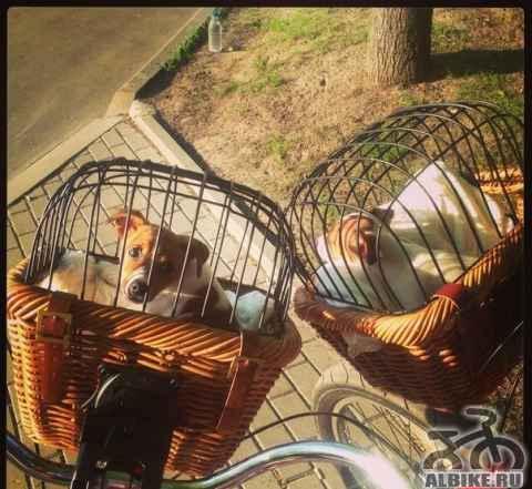 Плетёная велокорзина Tuckernuck для перевозки живо - Фото #1