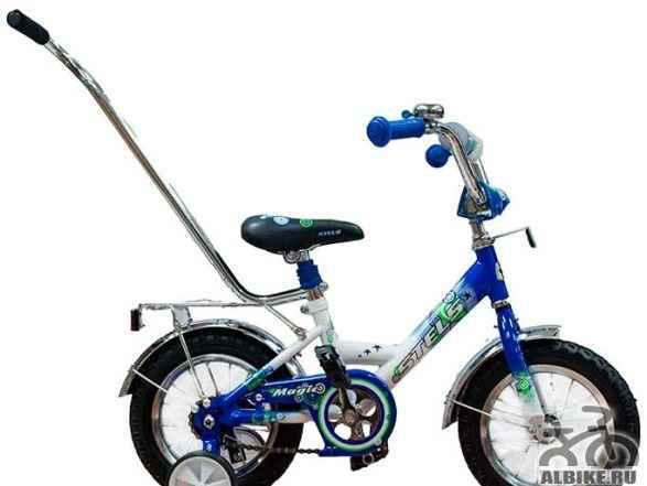 """Велосипед детский Стелс Мэджик 12"""" c ручкой - Фото #1"""