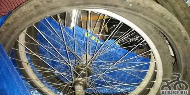 Колеса от старого велосипеда СССР - Фото #1