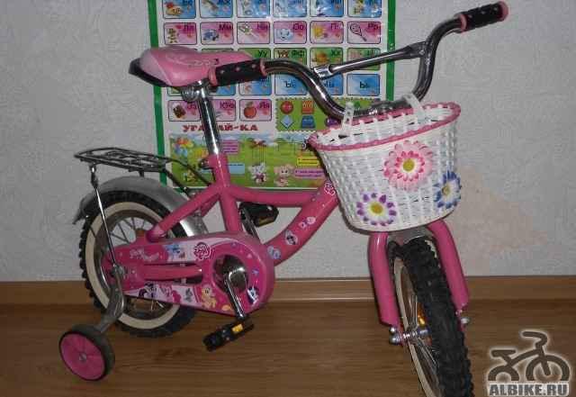 Детский розовый велосипед - Фото #1