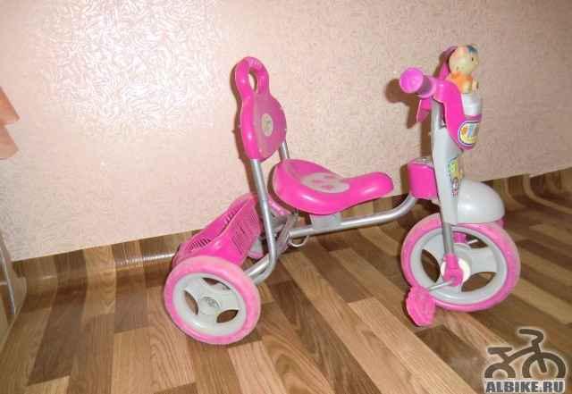 Детский трехколесный велосипед (б/у) для девочки - Фото #1