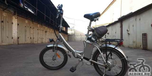Электровелосипед с двумя аккумуляторами