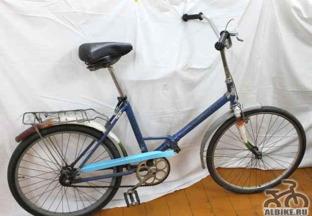 Складной велосипед бу взрослый с большими колесами