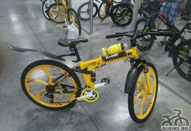 Велосипед Хаммер жёлтый можно посмотреть