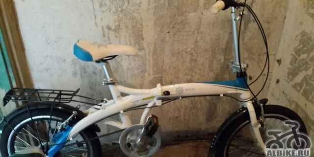 Новый складной подростковый-женский велосипед