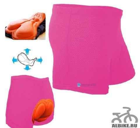 Шорты велосипедные с подкладкой новые розовые М