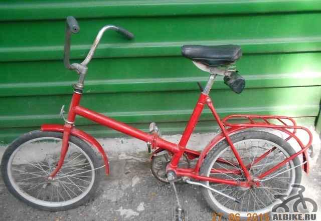 Велосипед б/у в нормальном состоянии складной