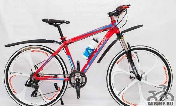 Горный велосипед ауди (красный) на литых дисках
