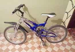 Детский велосипед Мустанг синего цвета