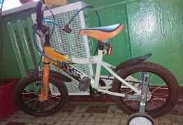 Велосипед+ классный самокат(в подарок.)
