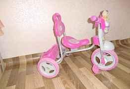 Детский трехколесный велосипед (б/у) для девочки