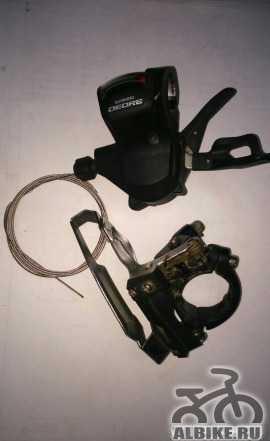 Передний переклюк с манеткой Shimano Deore M610