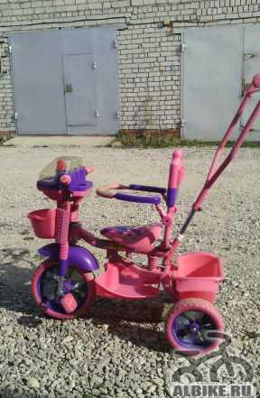 Велосипед детский трехколесный розовый