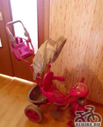 Малиновый 3-х колёсный детский велосипед