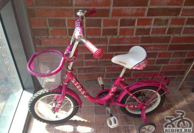 Велосипед детский розовый стелс