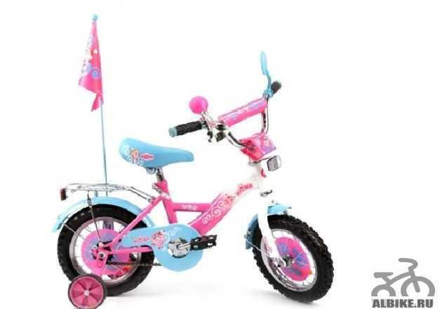 Велосипед 12 2х колесный Нюша тм смешарики