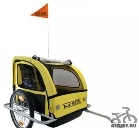 Велоприцеп для перевозки 2 детей