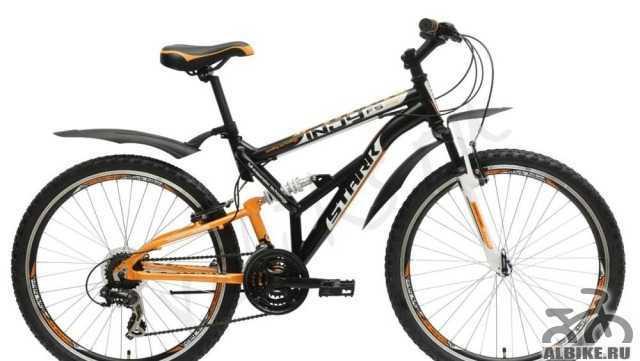 Велосипед Stark Инди FS HD Блэк-Orange (Новый)