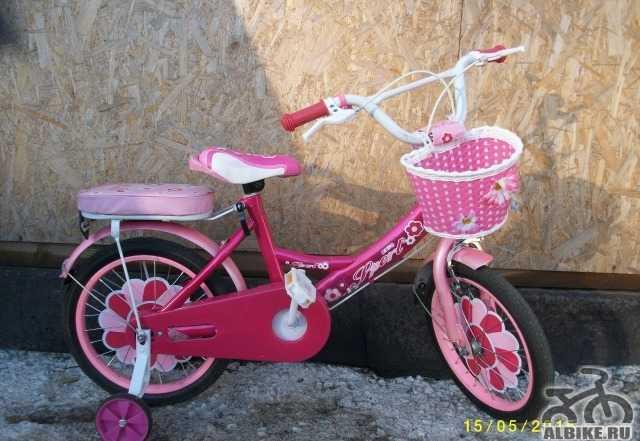 Детский розовый велосипед для девочки