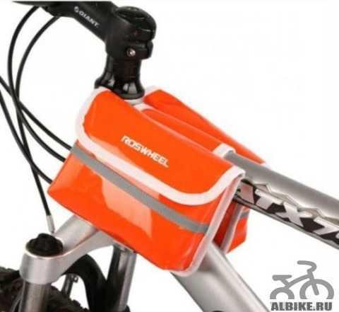 Сумка для велосипеда Roswheel оранжевая новая