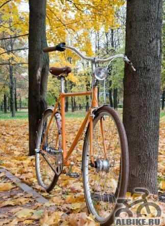 Стильный городской ретро велосипед, 3 скорости