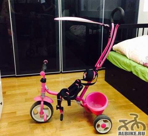 Трехколесный детский велосипед Рич Toys с ручкой