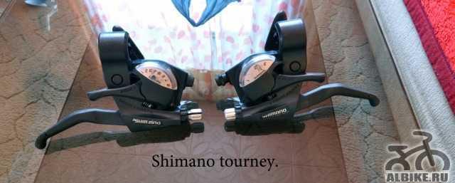 Shimano tourney (Манетки+ тормоз)