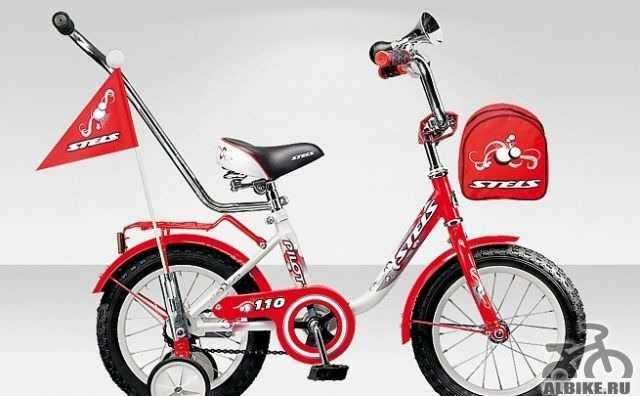 Детский велосипед Стелс c дополнительными колесами