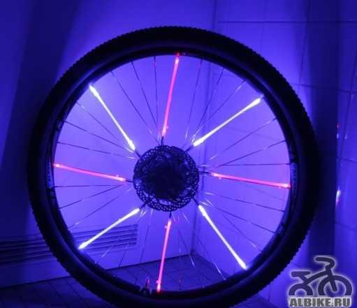 Светодиодная подсветка на колёсо
