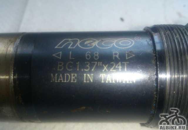 """Каретка Neco 68 bc 1.37"""" x 24t На пром подшипниках"""