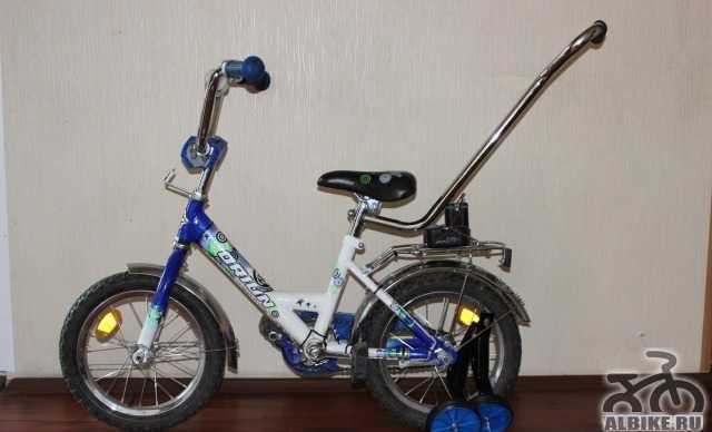 Продам велосипед с подсветкой + в подарок самокат