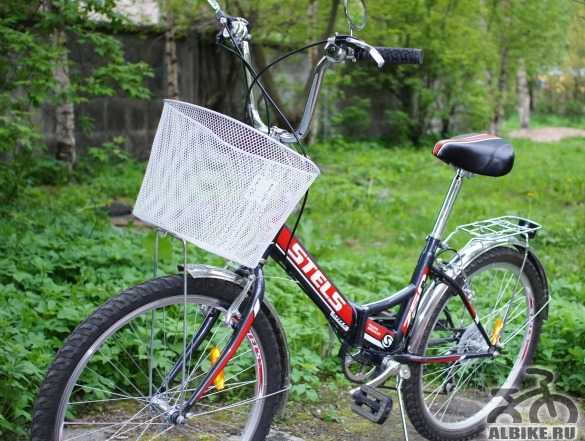 Складной дорожный велосипед с корзиной