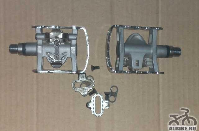 Контактные педали Shimano M324 с шипами