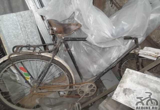 Велосипед СССР с высокой рамой, новая резина