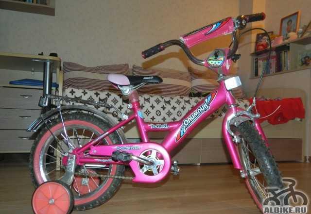 Продам детский велосипед д/девочки от 3-х до 7 лет