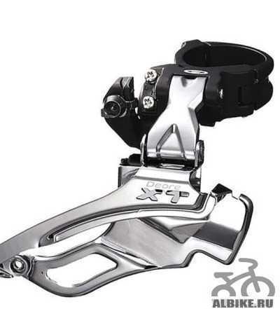Передний переключатель Shimano XT M771 новый 9 ск