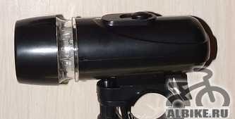 Фонарик светодиодный велосипедный передний