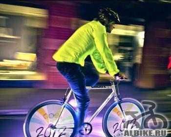 Фонарик велосипедный гибкий