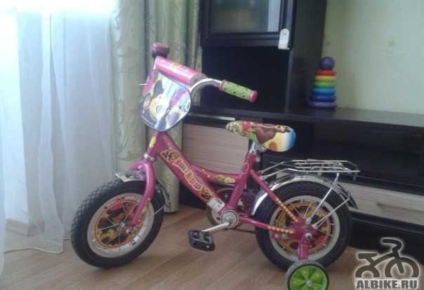 """Детский велосипед """"Маша и медведь"""" 12"""""""