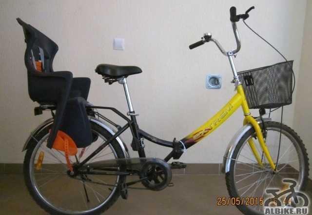 Продам велосипед с детским креслом