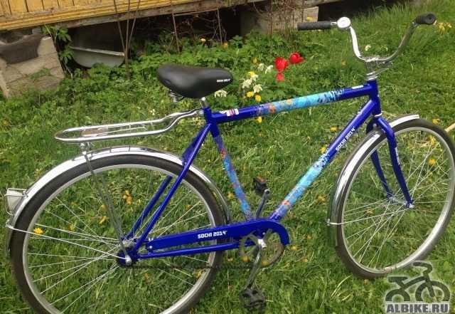 Новый велосипед с логотипом сочи 2014