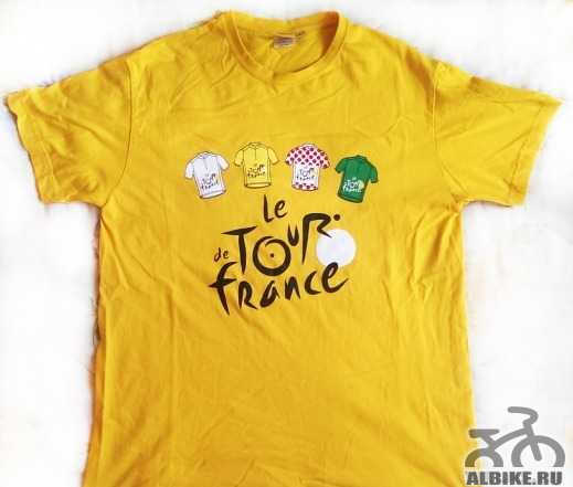 """Велоформа, футболка Тур de France, cерая """"Лидер"""""""