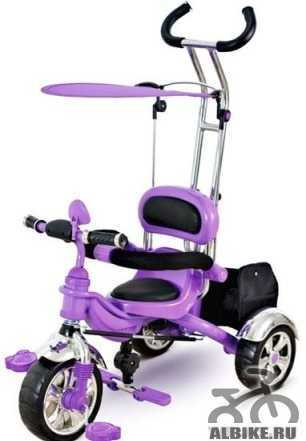 Детский велосипед салатовый с надувными колесами