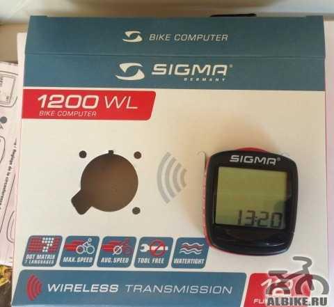 Велокомпьютер Сигма 1200 WL беспроводной